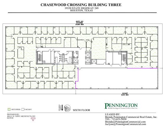 Chasewood Crossing 19350 : Sixth Floor
